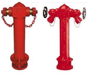 BS 750 Pillar fire hydrant