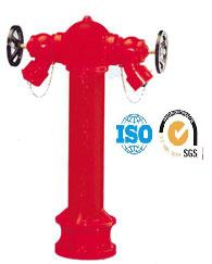 BS 750 Pillar fire hydrant with 2 landing valves