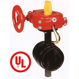 UL FM Grooved Type Butterfly Valves