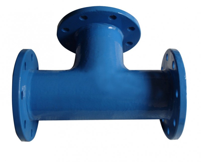 Flanged pipe fittings dimensions : All flange tee